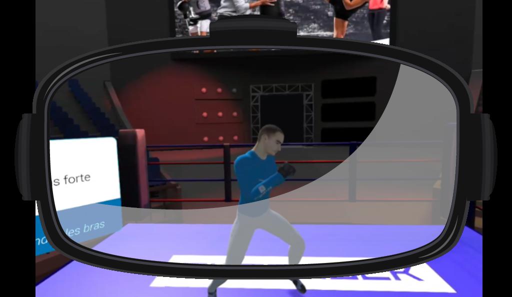 Image de Casque de réalité virtuelle et l'application boxe VR