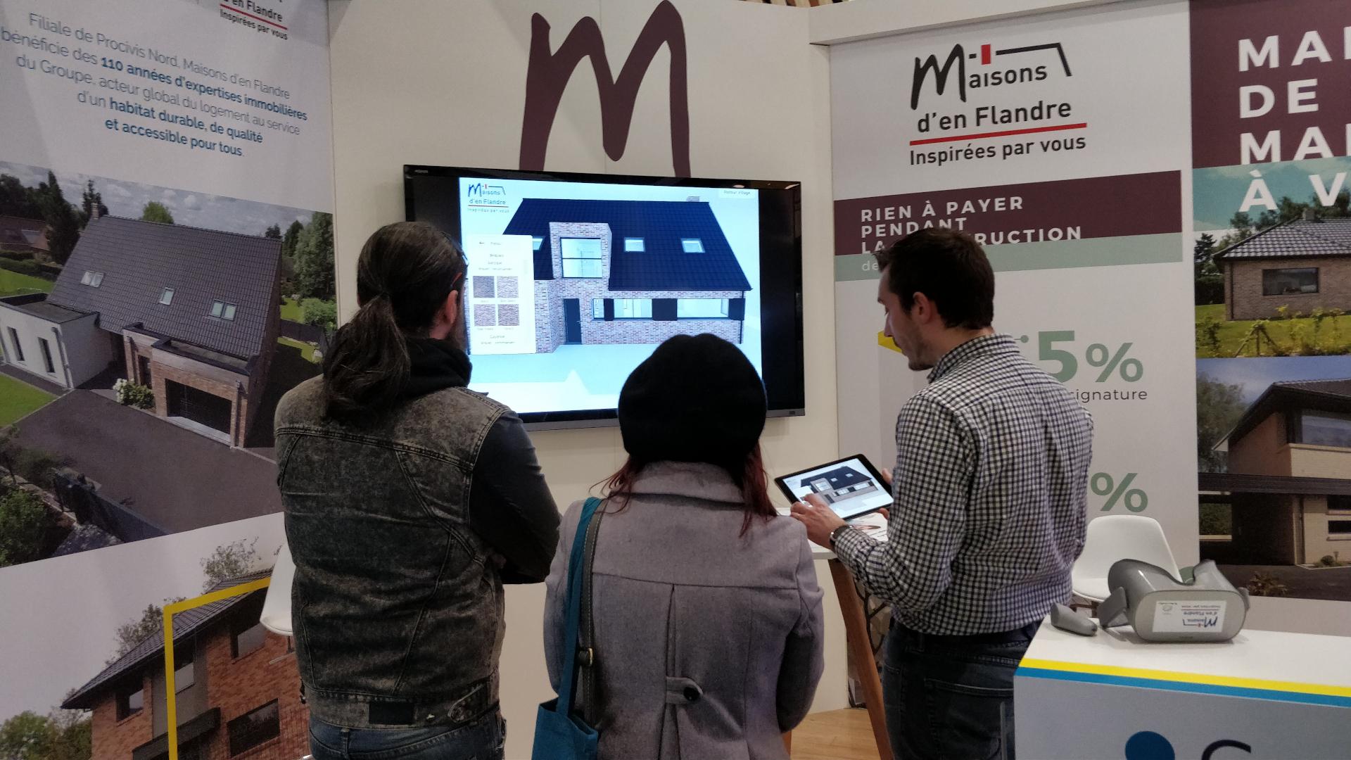 Photo de présentation de l'application Maisons d'en flandre en salon immobilier