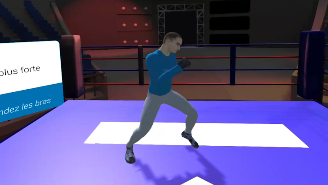 Screen prototype VR Boxe Decathlon