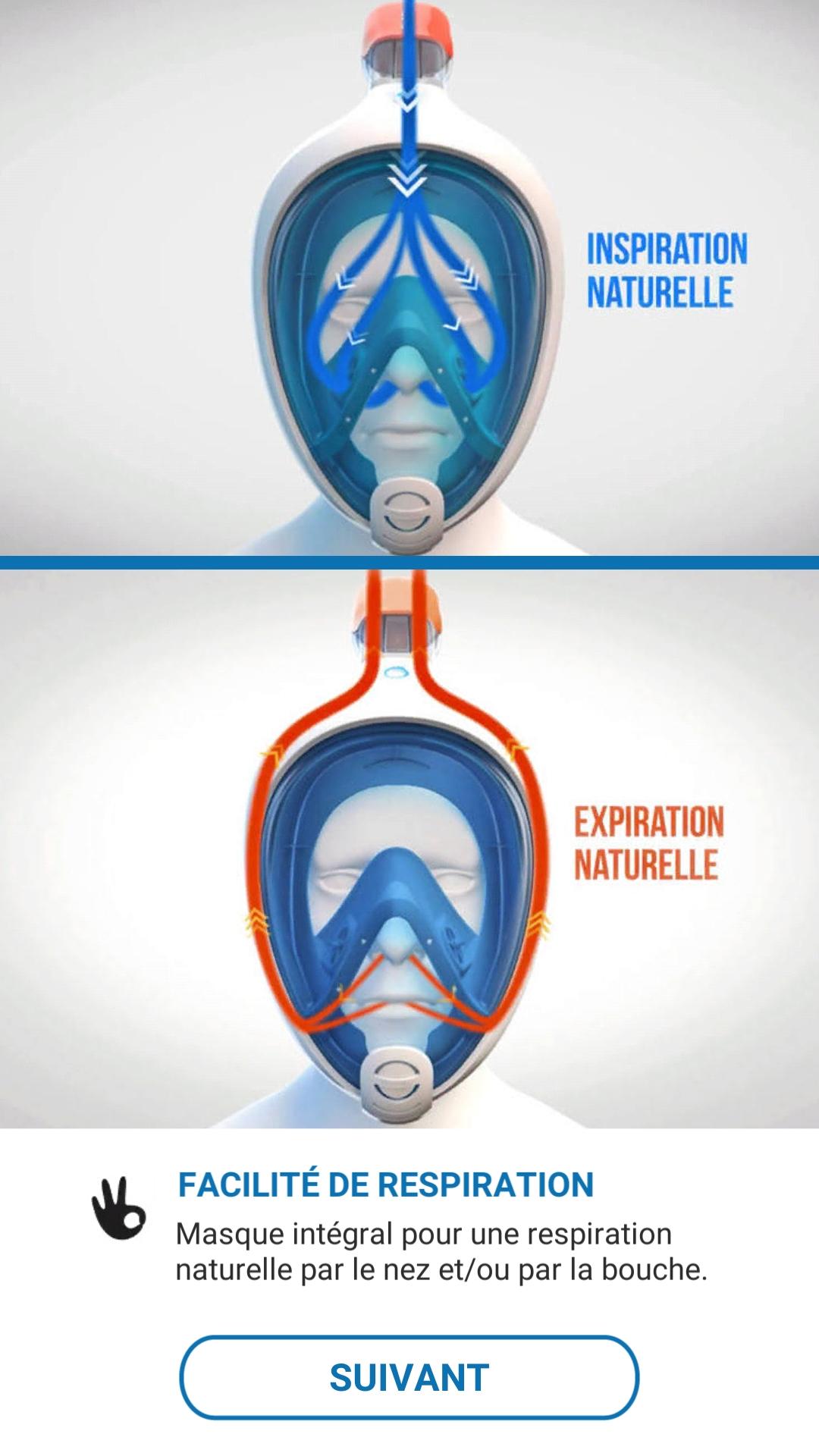 Facilité de respiration masque subea