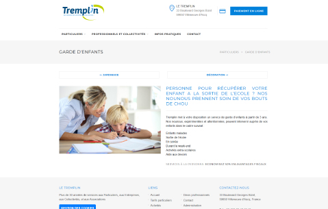 Site Web Tremplin